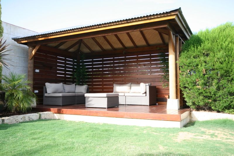 A very simple version of the pool hut - a bit too chunky ... on Cabana Designs Ideas id=63606