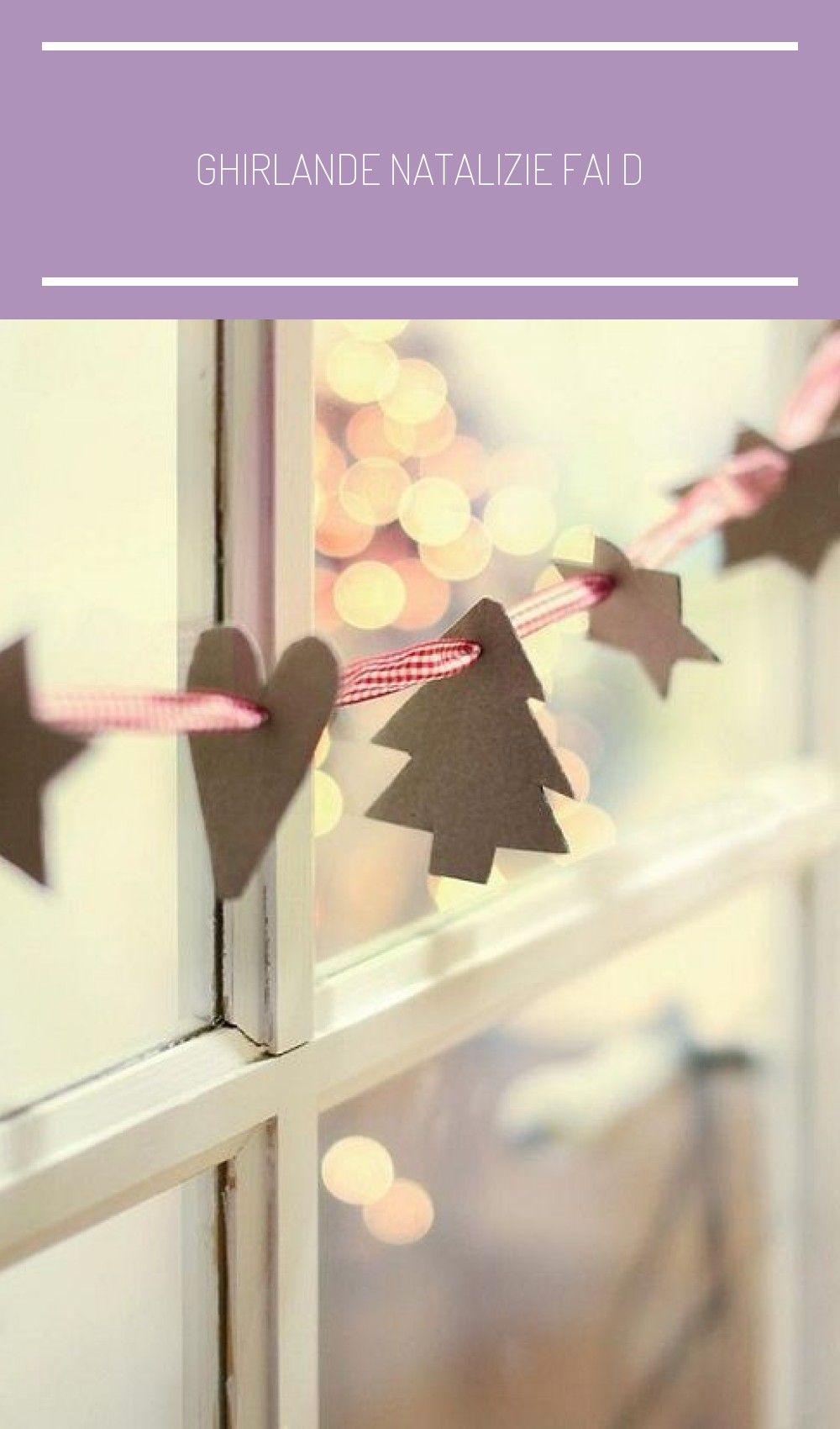 Photo of Ghirlande natalizie fai da te facili con ornamenti di carta su un filo rosso att…