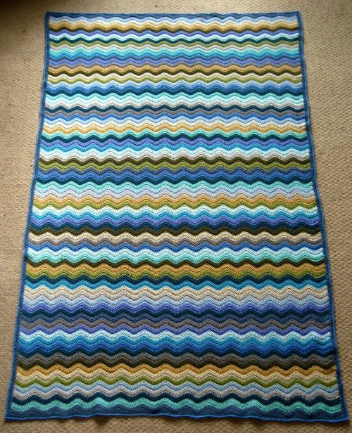 attic24 coastal ripple blanket | Crochet + Knitting | Pinterest ...
