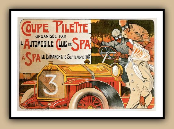 POSTER AUBURN AUTOMOBILE AMERICAN CAR INDIANA USA VINTAGE REPRO FREE S//H