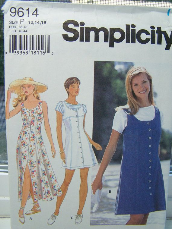 Simplicity 9614 Dress Pattern - Women\'s Jumper, Kimono Sleeve Top ...