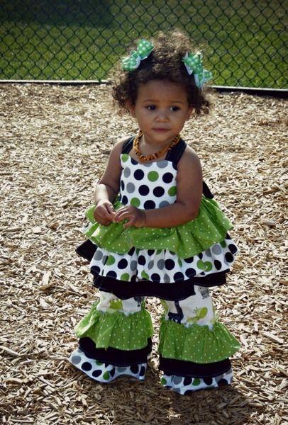 0432e4b9c Kara s Baby Triple Ruffle Pants and Capris PDF Pattern