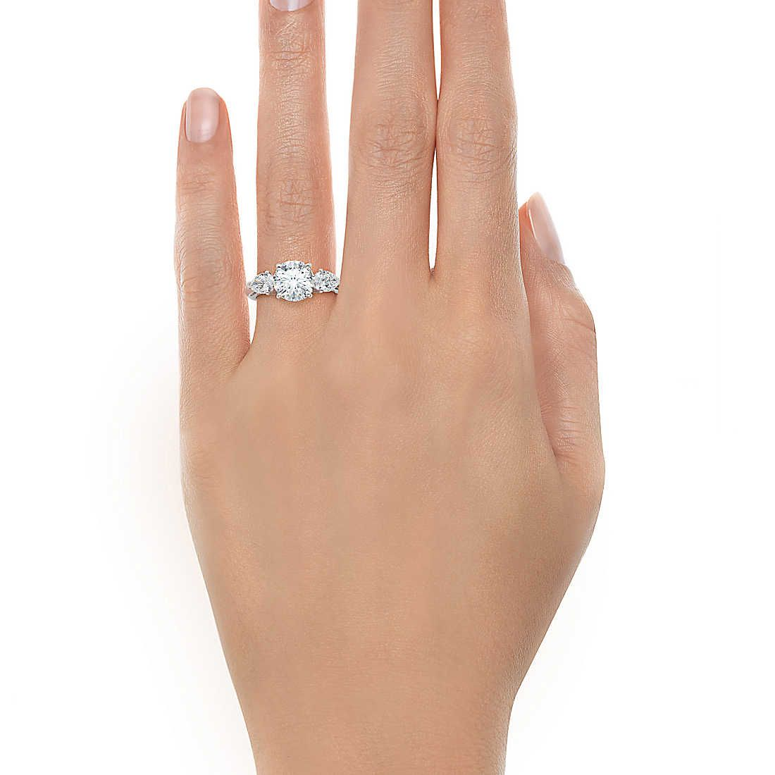 Round Brilliant Diamond Engagement Ring With Pear Shaped