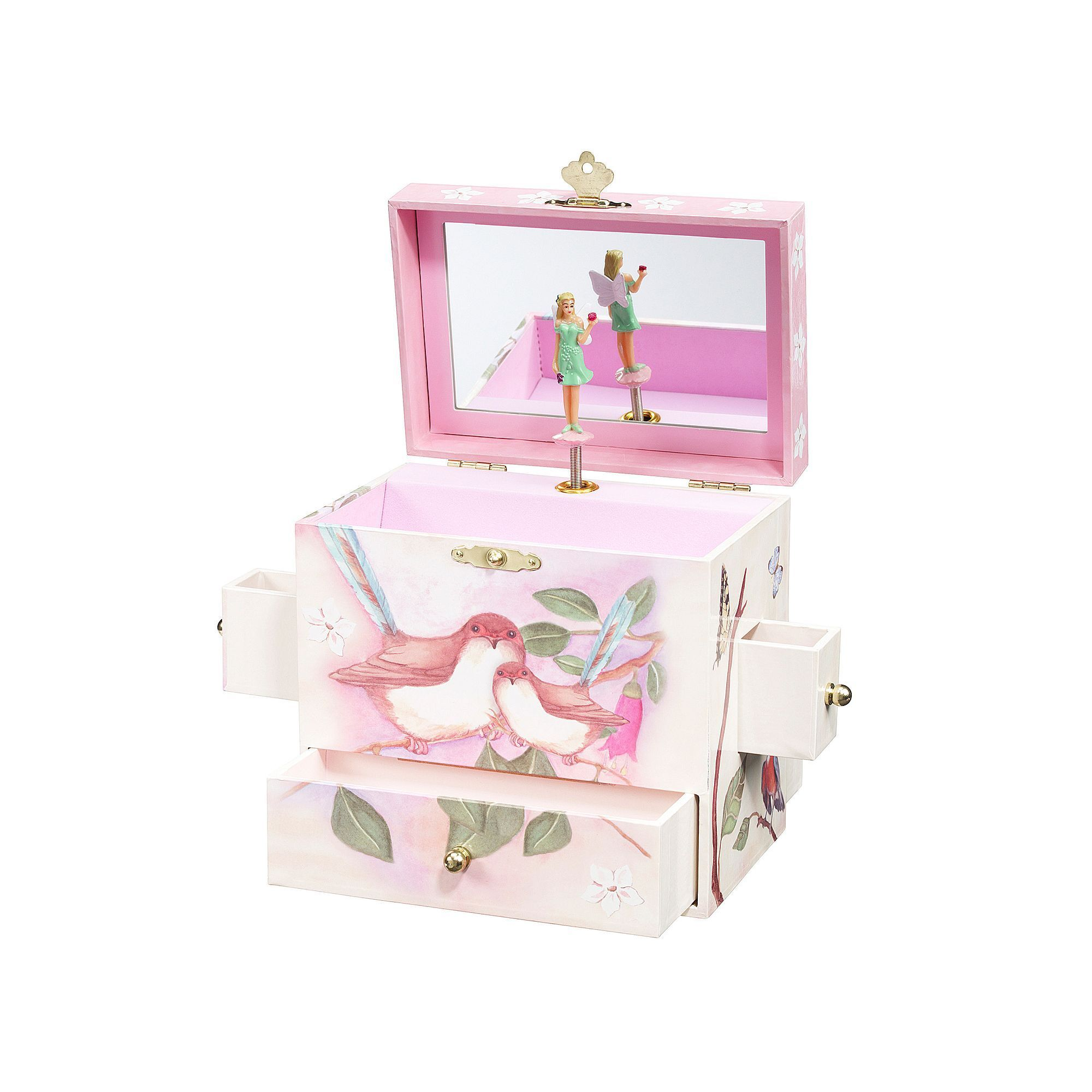 Enchantmints Sweet Fairy Wrens Musical Jewelry Box Multicolor