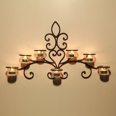 Rosalind Wheeler Iron Wall Sconce Candle Holder