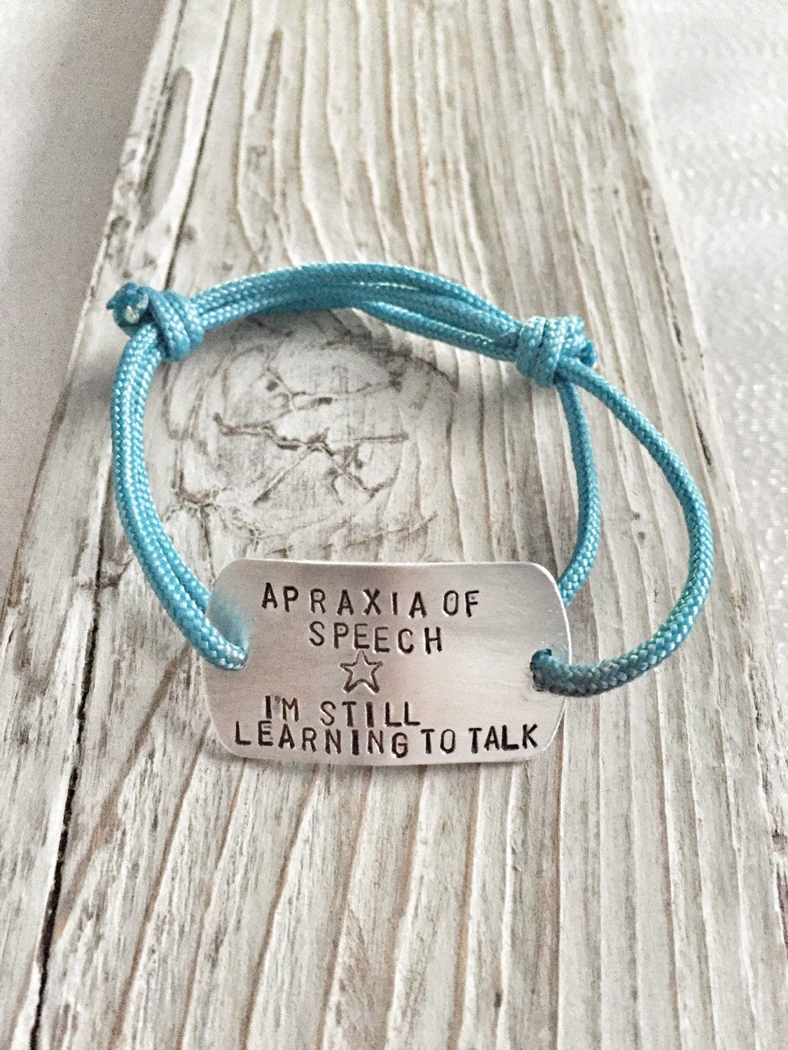 Apraxia Of Sch Bracelet Special Needs Child Id By Handtoheartjewelry On Etsy