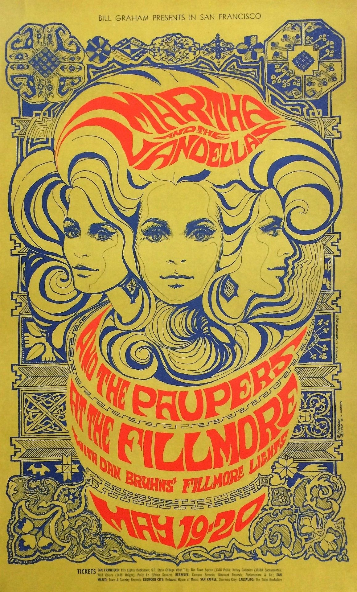 Bonnie Maclean Vintage Concert Posters Psychedelic Poster Vintage Music Art