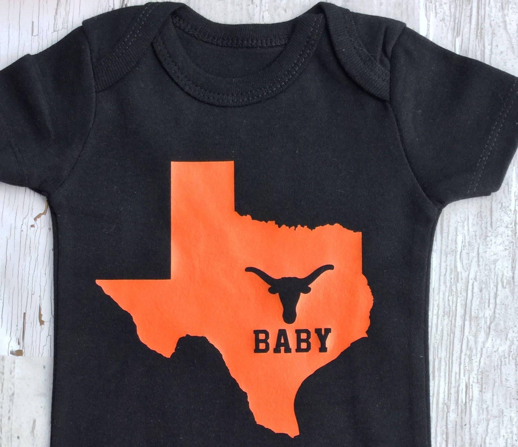 Love Texas Baby esie Texas Baby UT Baby Made in Texas Texas