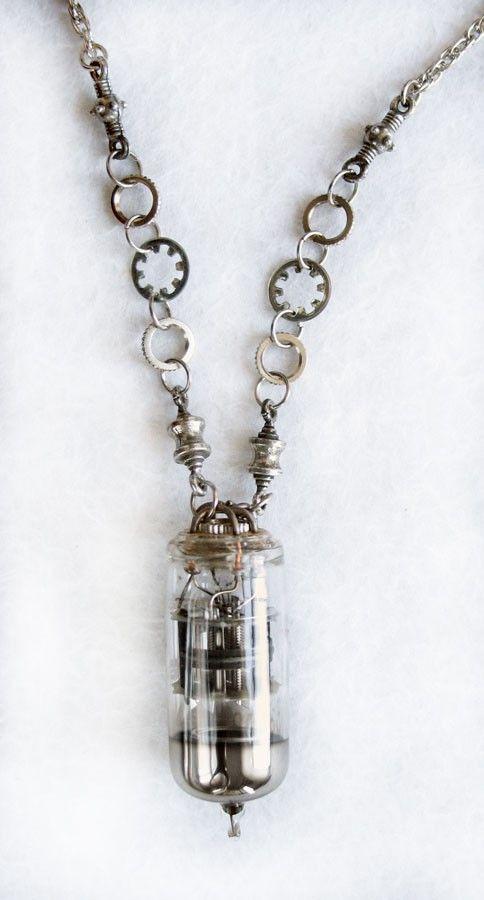 Steampunk + cyberpunk Jewelry by ~clockwork-zero