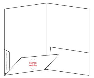 9.5 x 12 pocket folder template | presentation folder template, Powerpoint templates