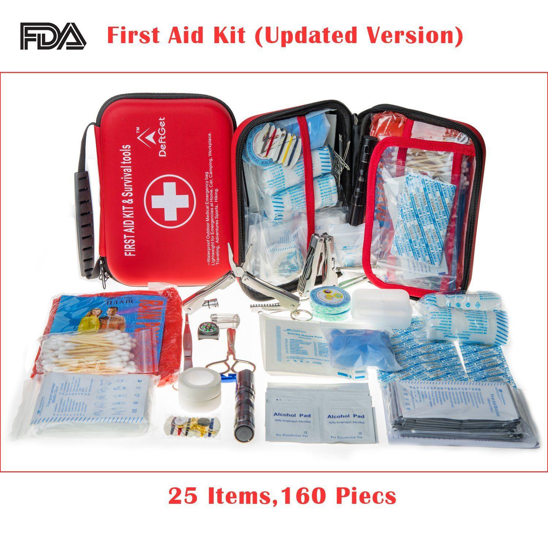 Deftget compact first aid kit mini survival tools box