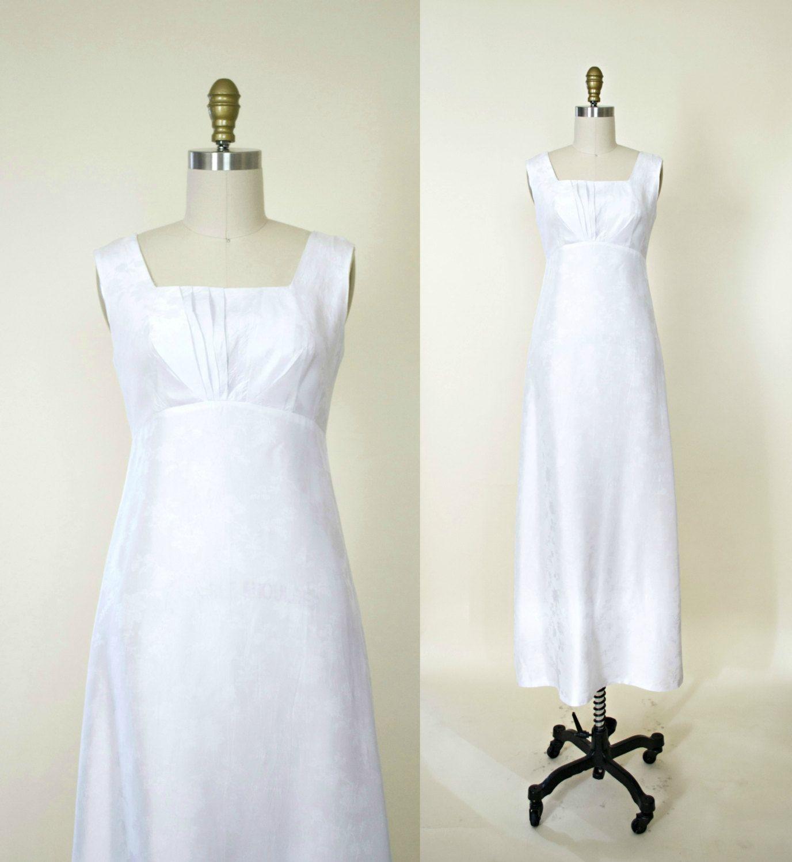vintage 1950s wedding dress and jacket set. empire waist wedding ...
