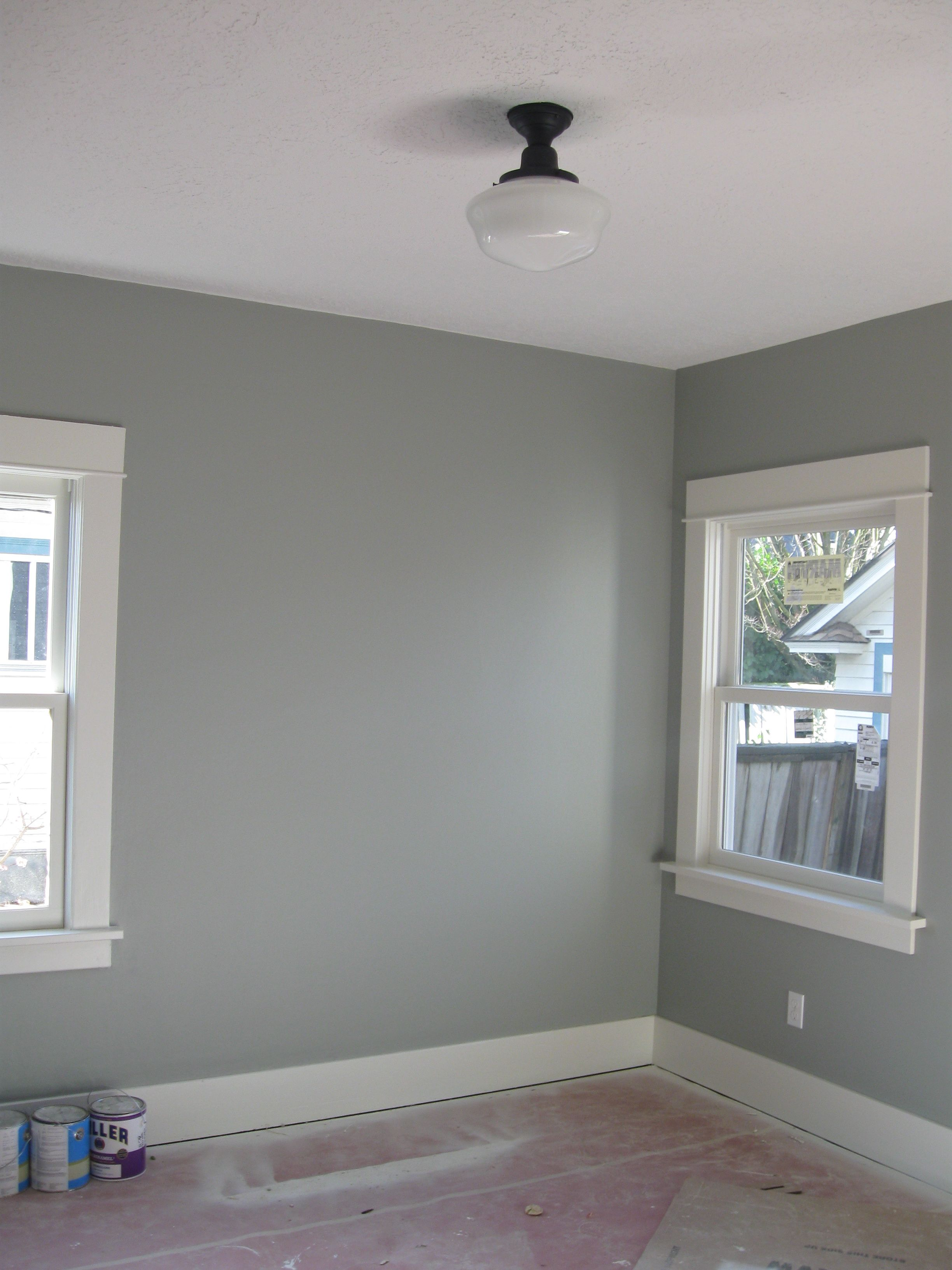 Paint color is veranda green from benjamin moore turned - Benjamin moore interior paint colors ...