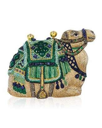 Shop Now - >  https://api.shopstyle.com/action/apiVisitRetailer?id=479282651&pid=uid6996-25233114-59 Judith Leiber Couture Sodalite & Green Onyx Crystal Camel Clutch Bag, Champagne Multi  ...