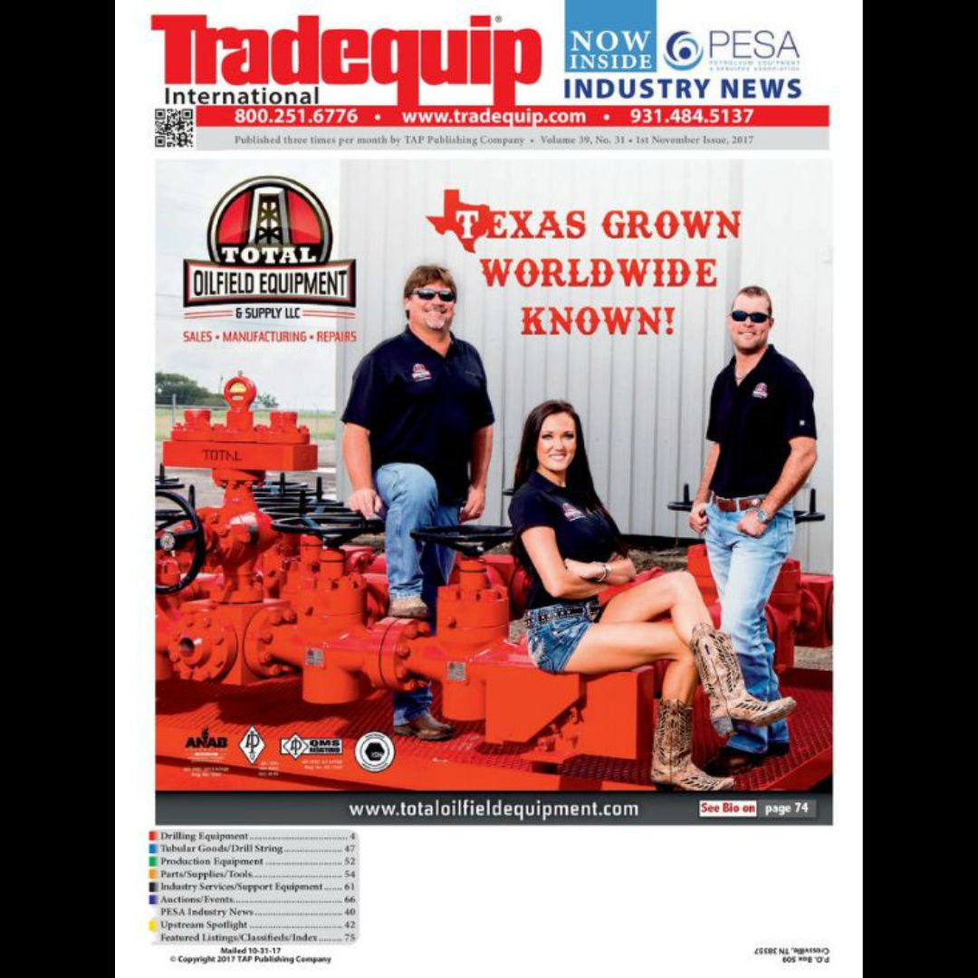 2017 First November Issue Total Oilfield Equipment & Supply
