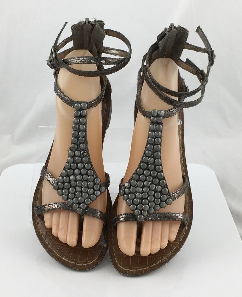 51491f7816a Sam Edelman Ginger womens Gladiator Sandals Metallic Pewter Size 6.5 M  casual  SamEdelman  Gladiator  Casual