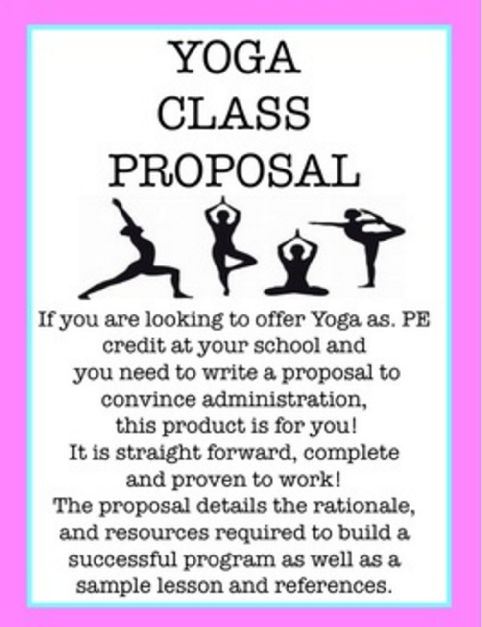 Proposal For Yoga Class for PE Credit  Proposal writing, Yoga