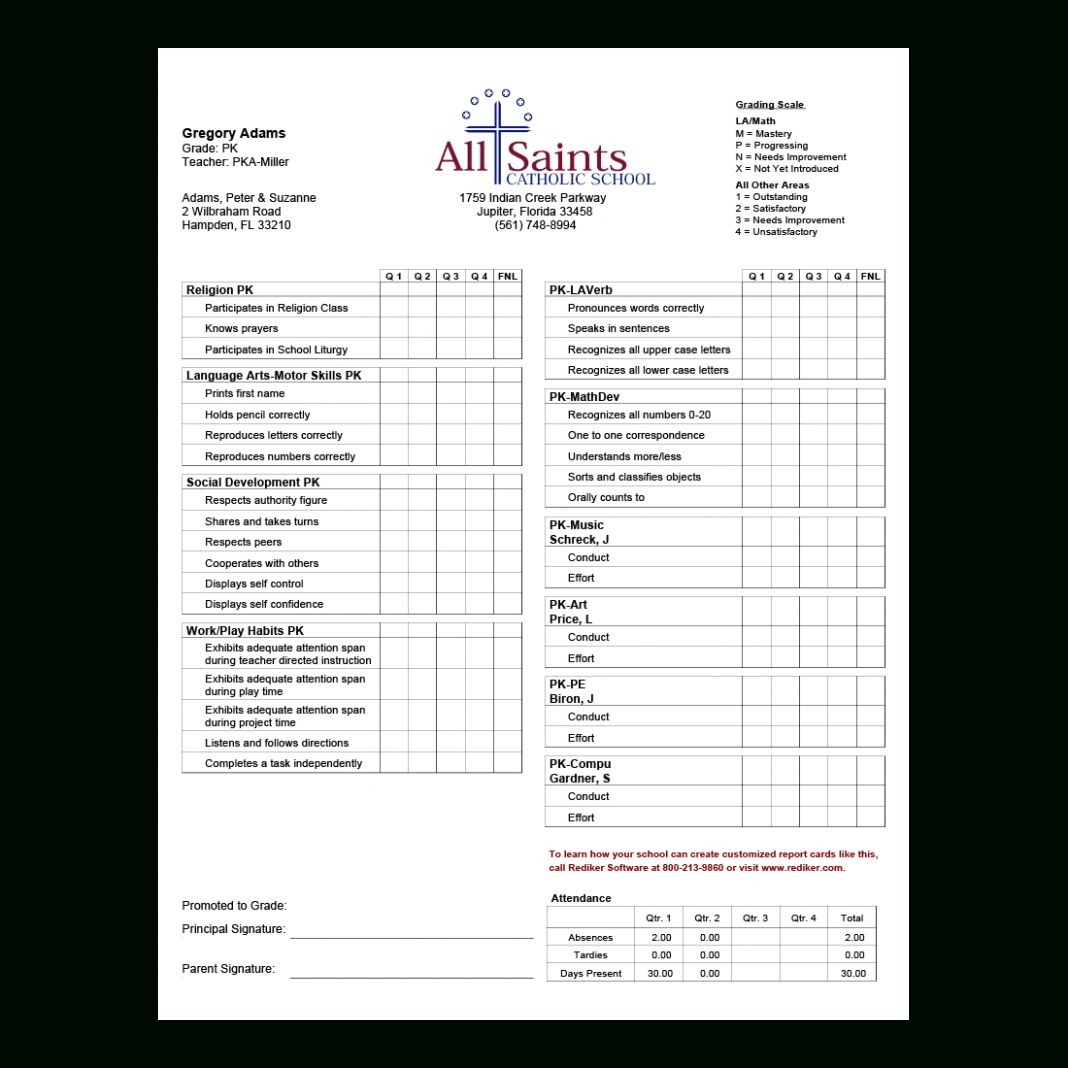 Ontario Report Card Template Editable Cbse Format For For Kindergarten Report Card Template School Report Card Report Card Template Kindergarten Report Cards