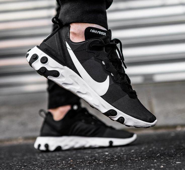 Enjuague bucal Envolver fe  Nike React Element 55 Black White aux pieds (2019) - #aux #Black #Element  #Nik…   Zapatillas nike para hombre, Zapatillas deportivas mujer nike,  Zapatos nike hombre