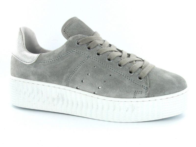 Grijze platform sneakers van het merk Tango Shoes. Model Emma 2-1. €