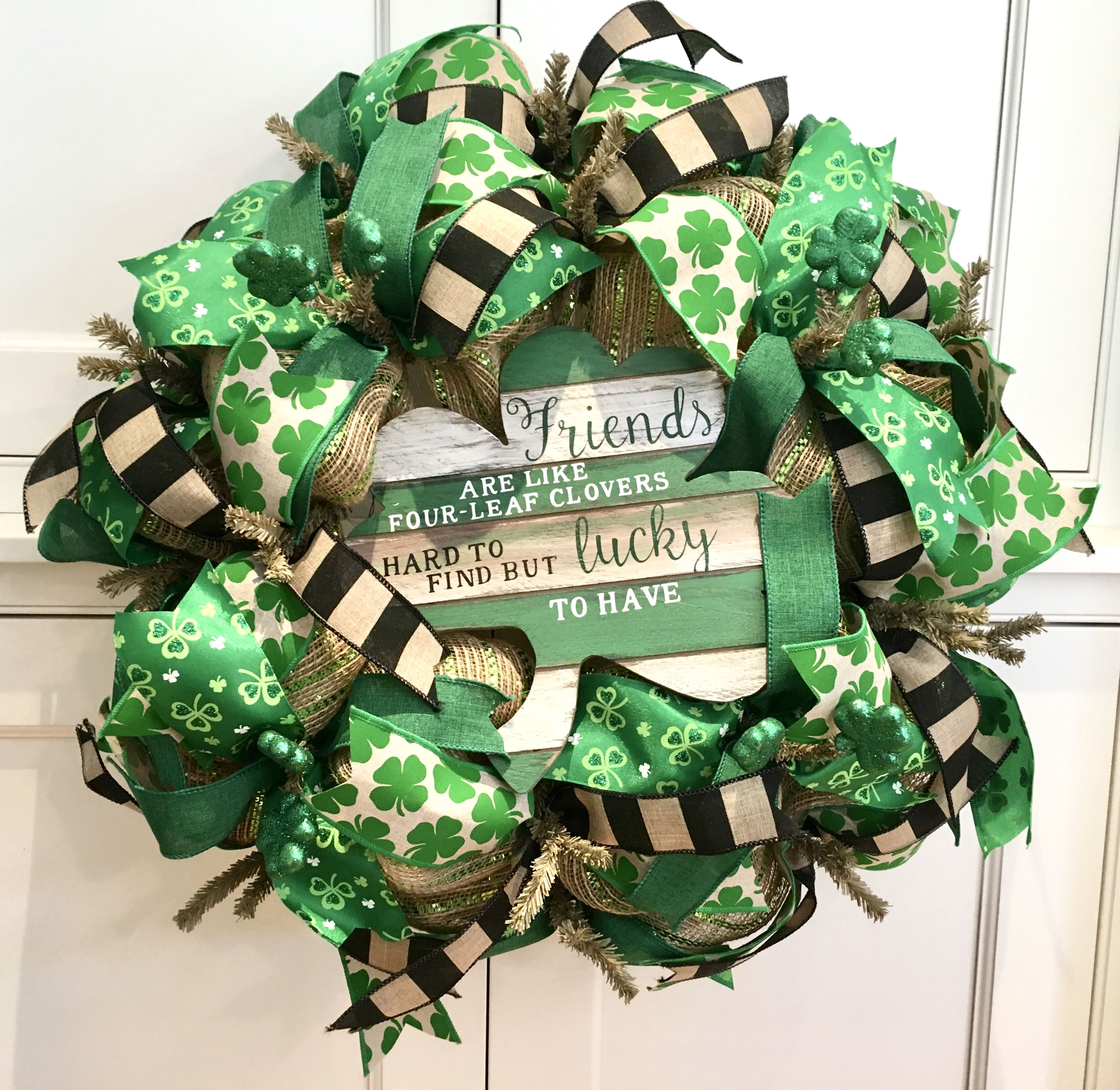 Handmade wreath celebrating St. Patrick's Day! This wreath