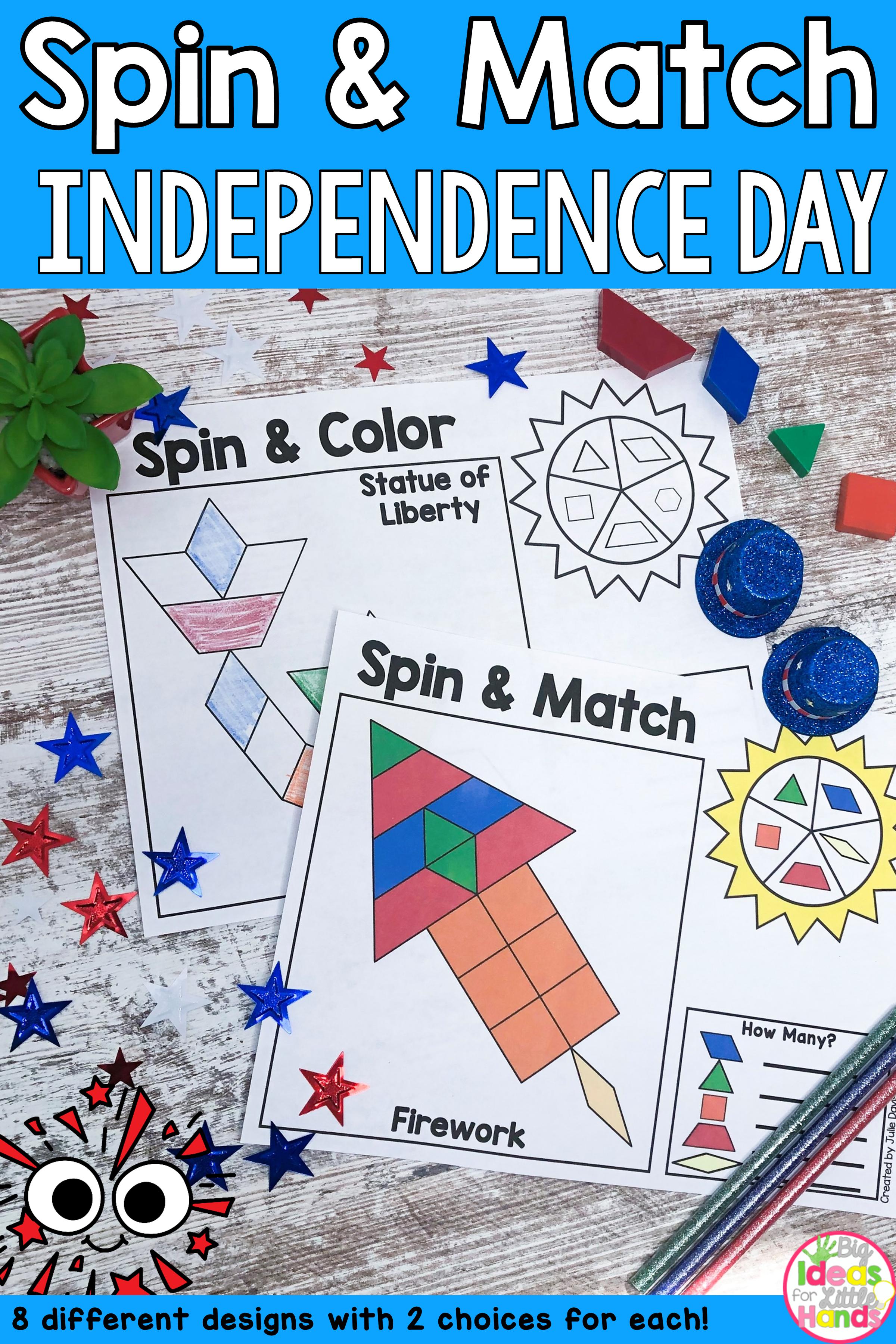 Pattern Blocks Mat Independence Day Math Center