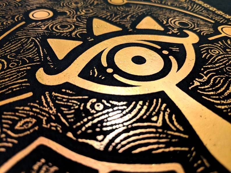 Breath of the Wild Foil Prints made by BlindTheMerchant