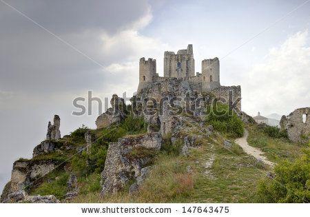 Rocca Calascio Castle,Abruzzo, Italy  - stock photo