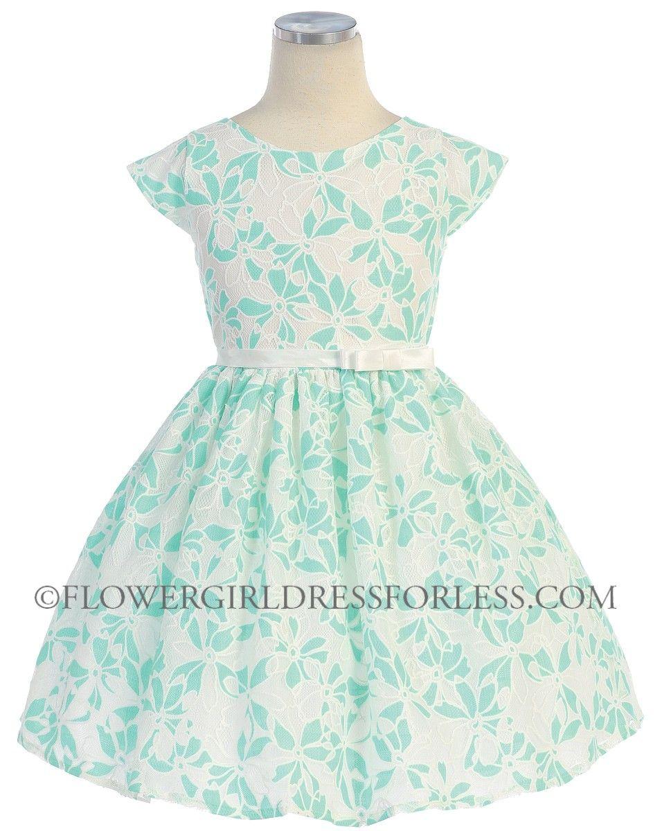 Sky girls dress style cap sleeve flower lace dress
