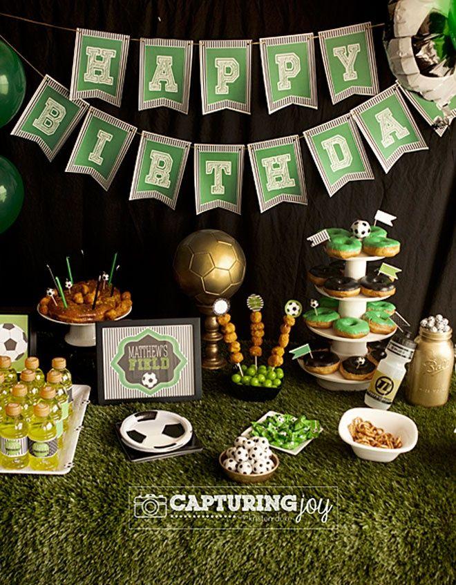 Idea mesa cumple de futbol cumplea os reposter a - Decoracion de mesas cumpleanos adultos ...