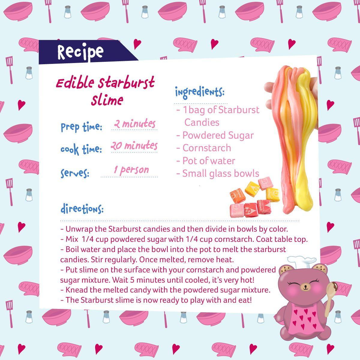 ec6f026261fa Chef Carmins MeBear Recipe! Try this Edible Starburst Slime. Yummy ...