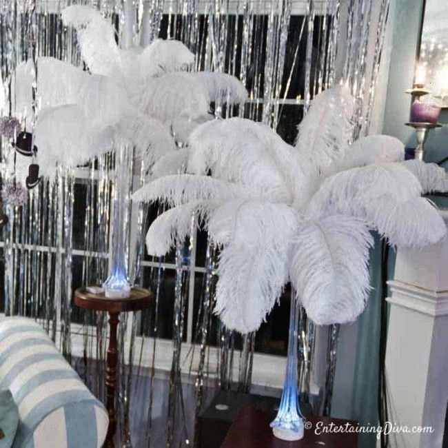 save money on your wedding or event centerpieces? Learn how to make your own ostrich feather center