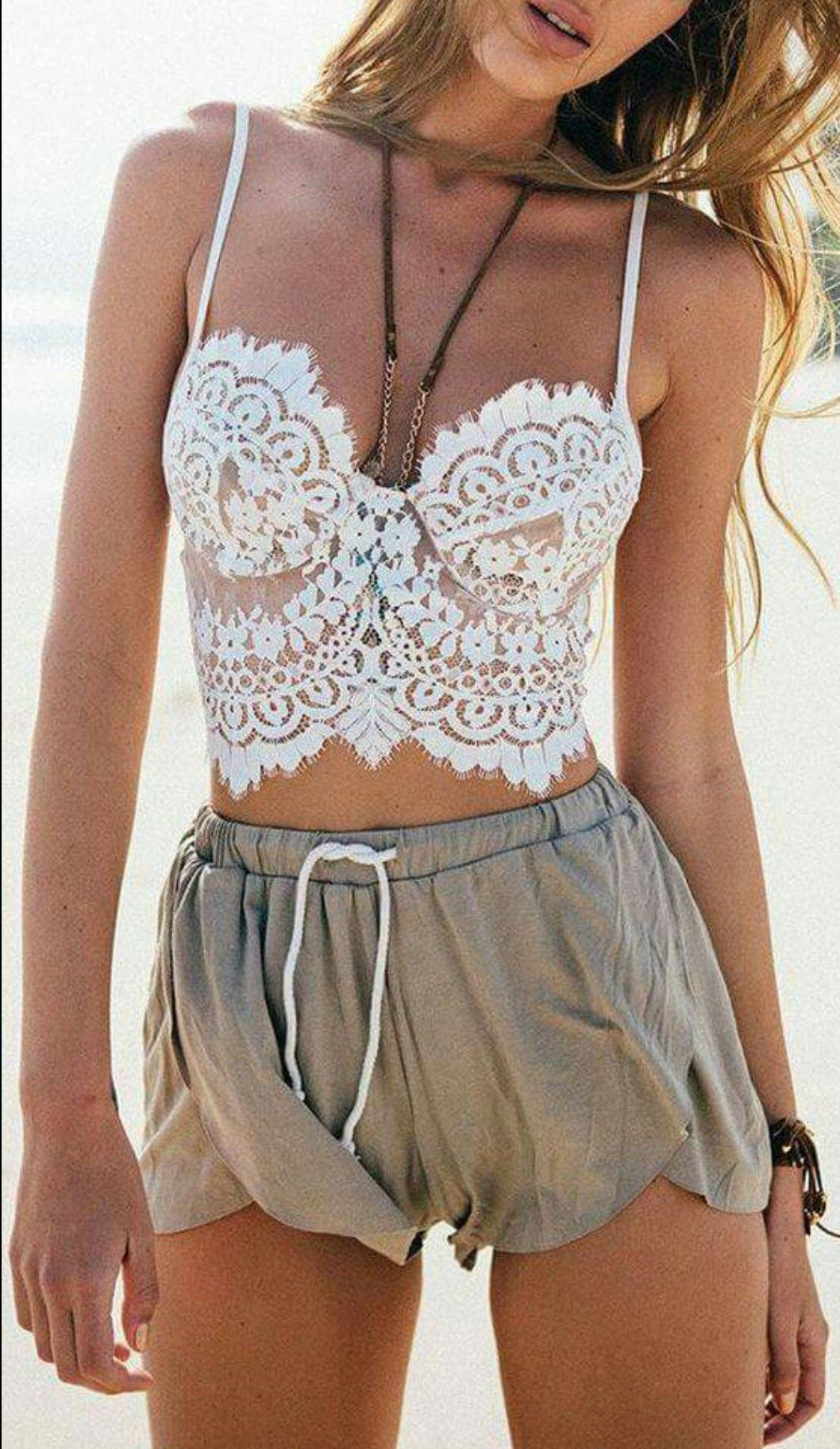 I like this combo! Pretty but relaxed and comfortable || Clothing/Fashion/Summer