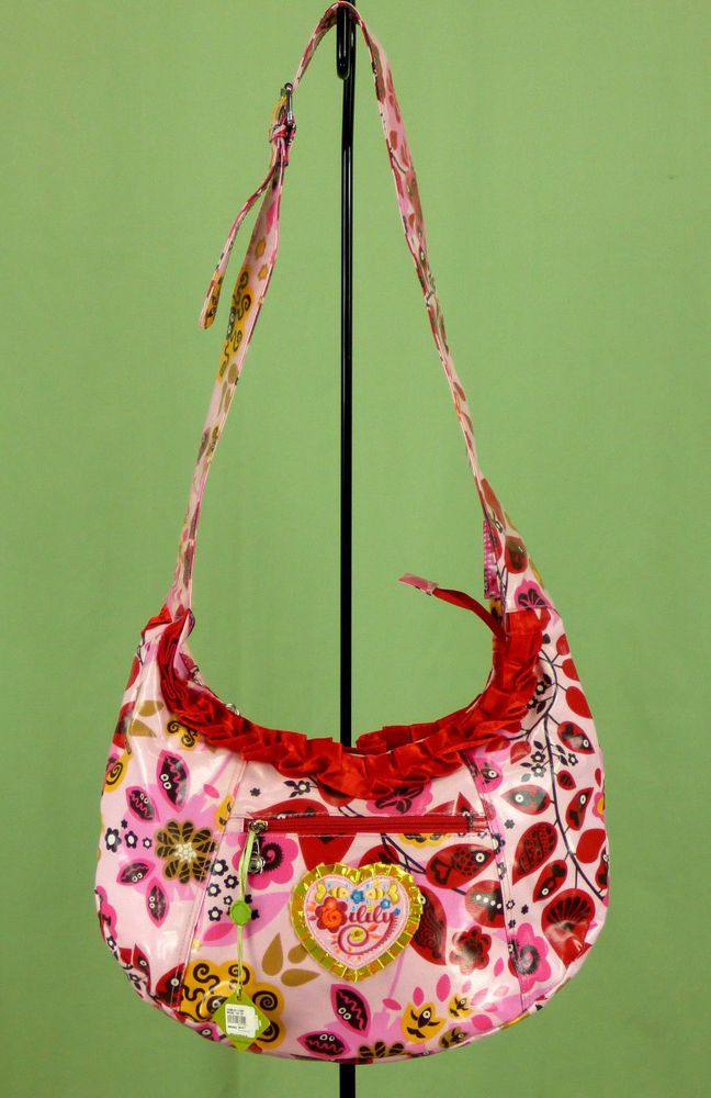 268 Nwt Oilily Women S Colorful Cross Body Hobo Bag Purse Flower Print Prints And
