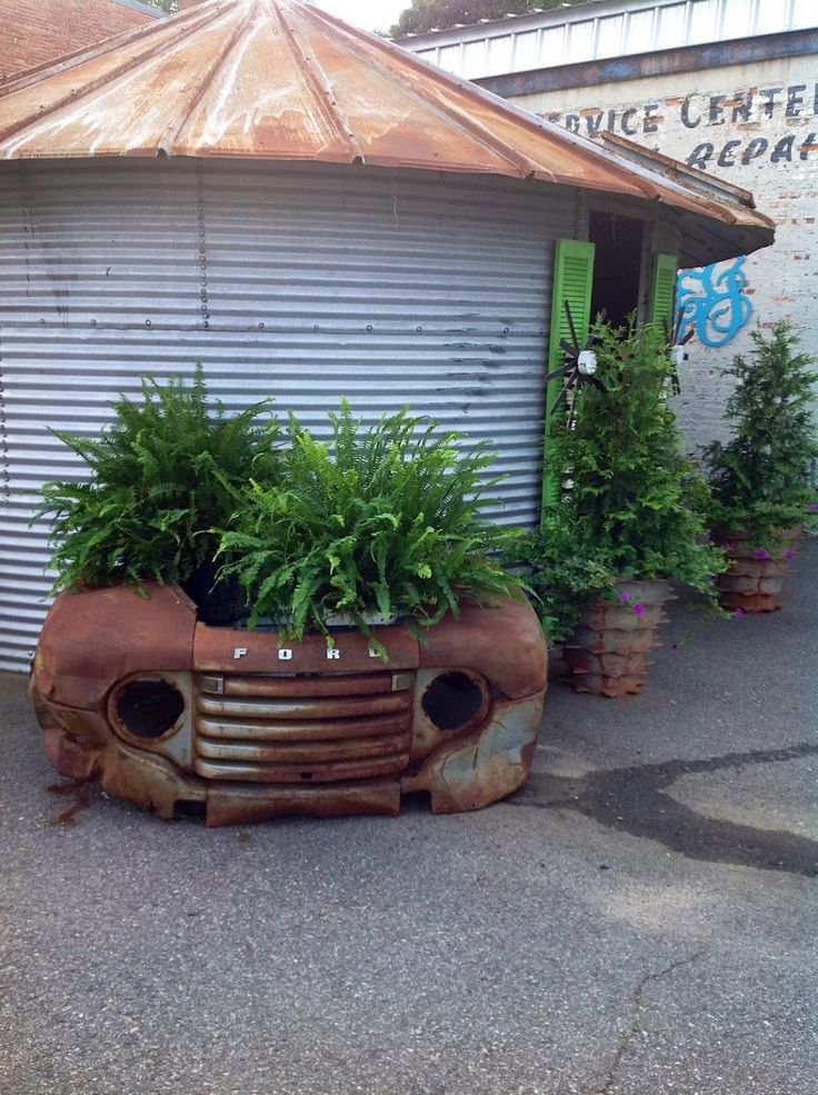 ford front end planter industrial garden home decor project idea project difficulty medium