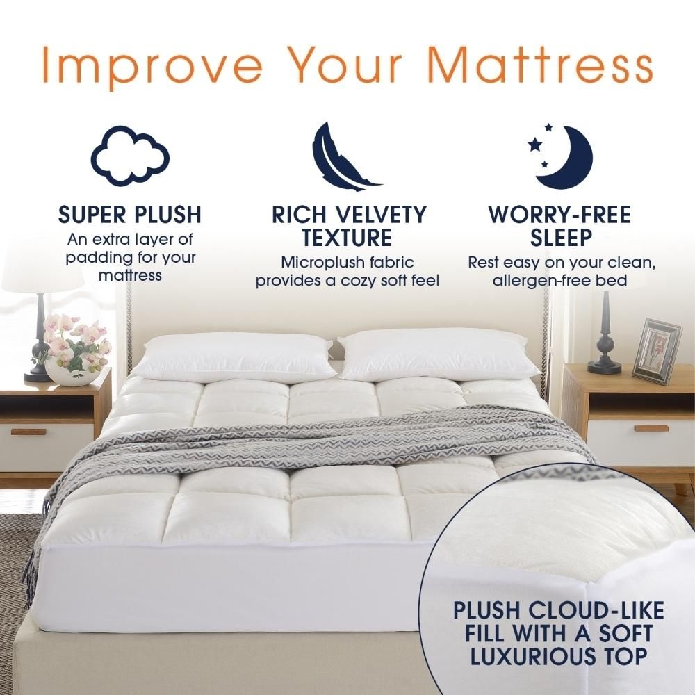 ultra soft mattress topper silky smooth and plush hypoallergenic