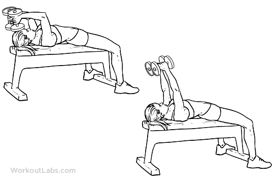 Lying dumbbell tricep extension exercises pinterest for Floor underhand cable fly