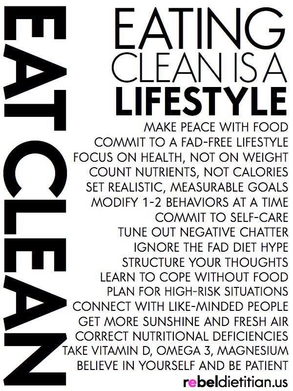 Eat clean, feel clean,go together :) email-me