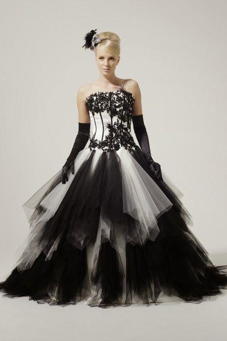 vestidos de novia con flores negras, parte 3 | vestidos de novias de