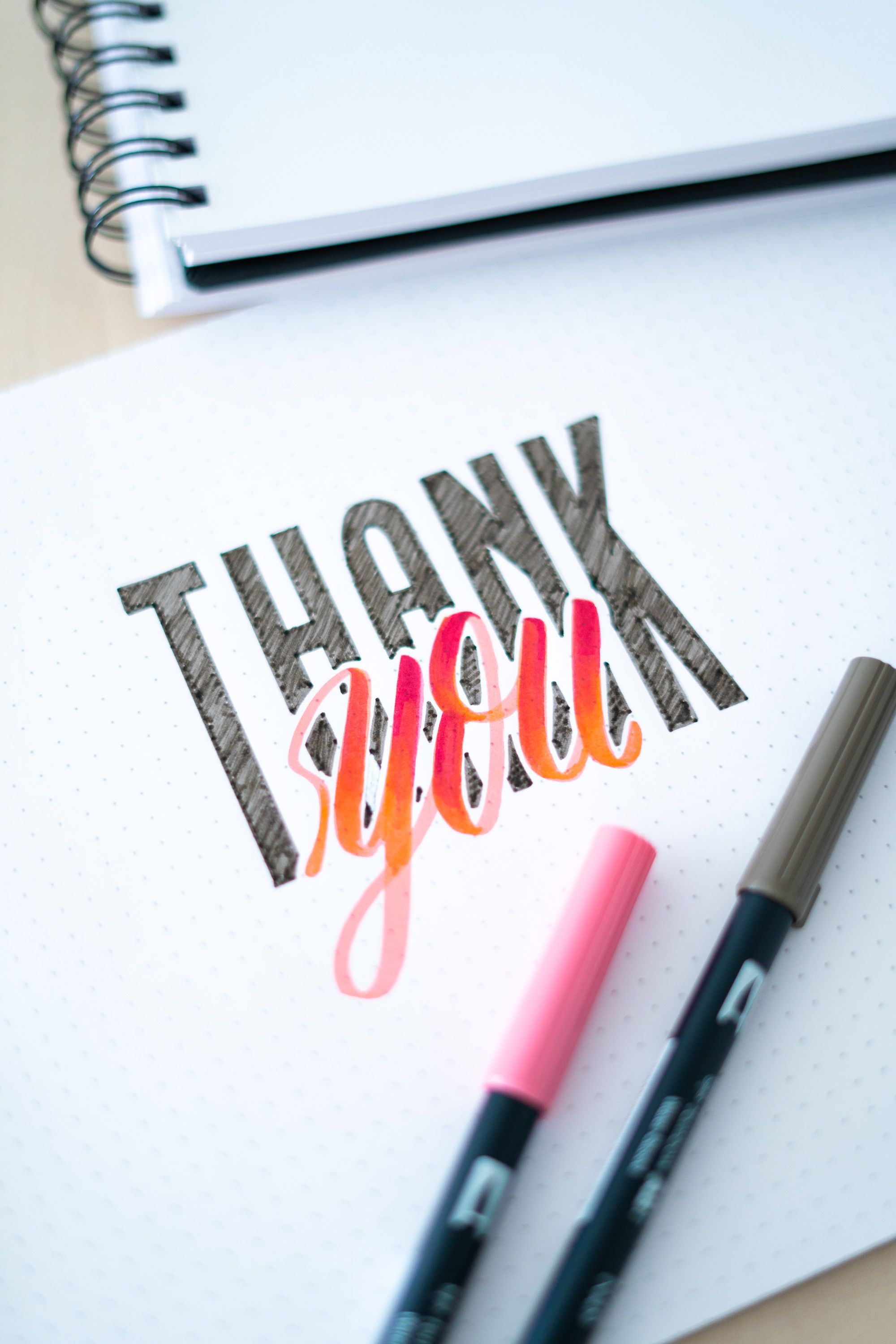 Photo of Thank you Handlettering