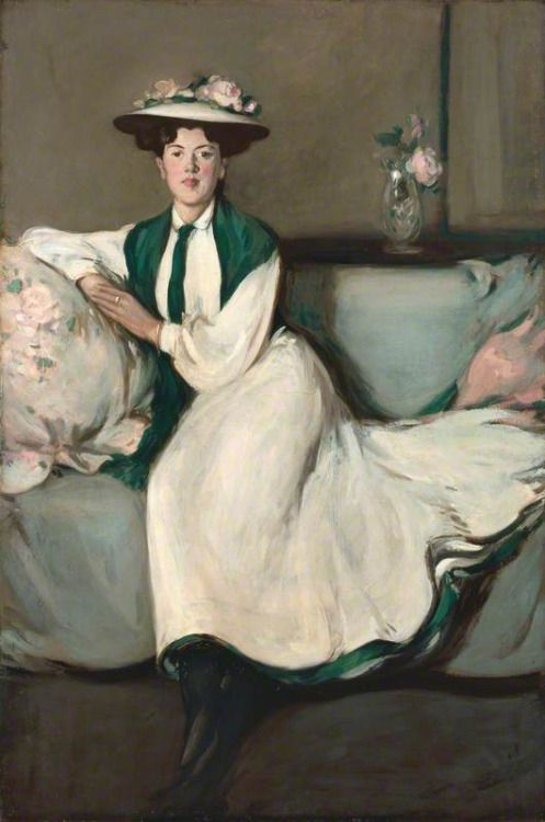 The White Dress: Portrait of Jean (1904). John Duncan Fergusson. - http://wp.me/p6qjkV-gax  #Art