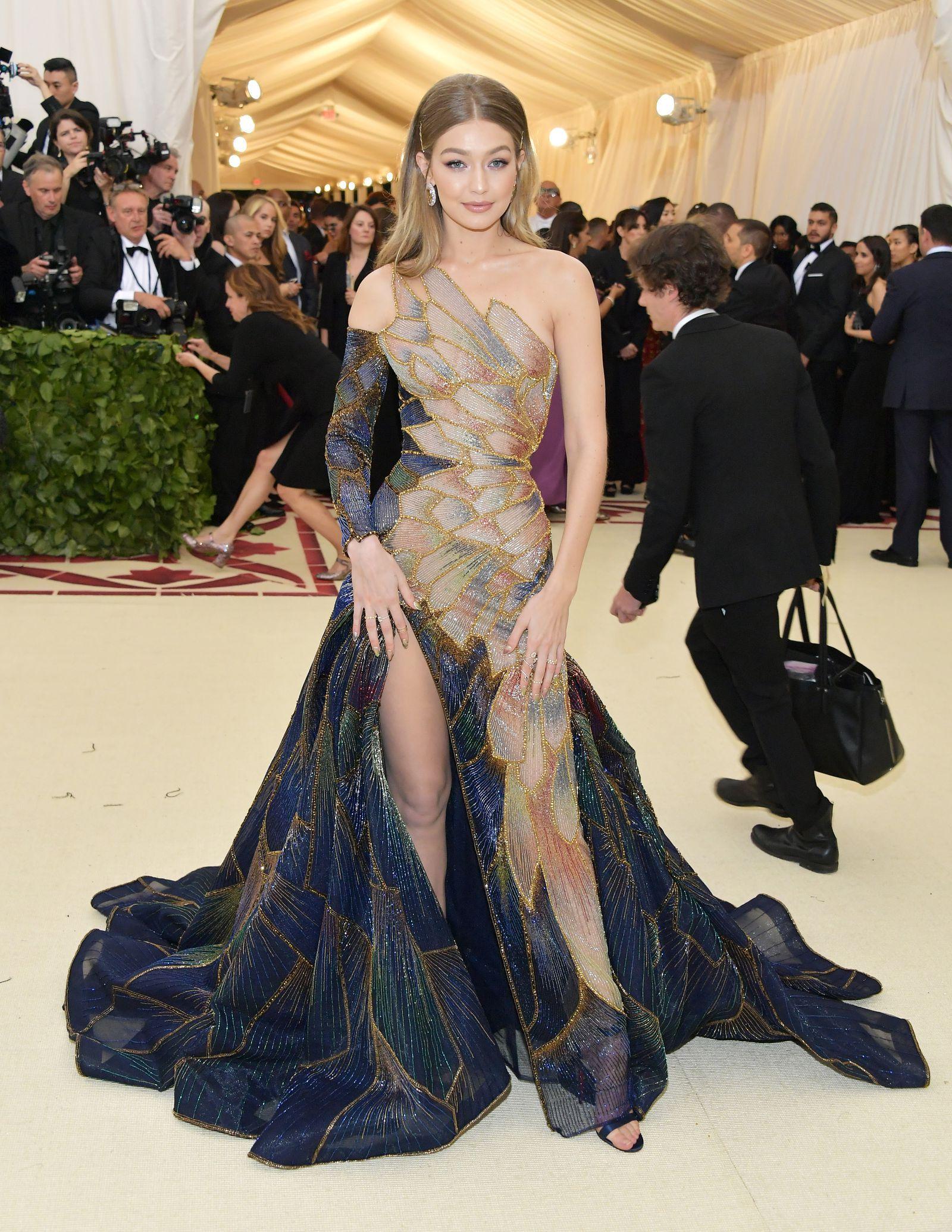 Gigi Hadid Wore A Stain Gl Window Inspired Versace Dress