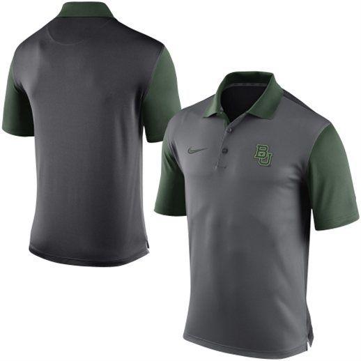 665d40fb4702 Nike Baylor Bears Gray Coaches Sideline Polo Shirt  baylor  bears  college