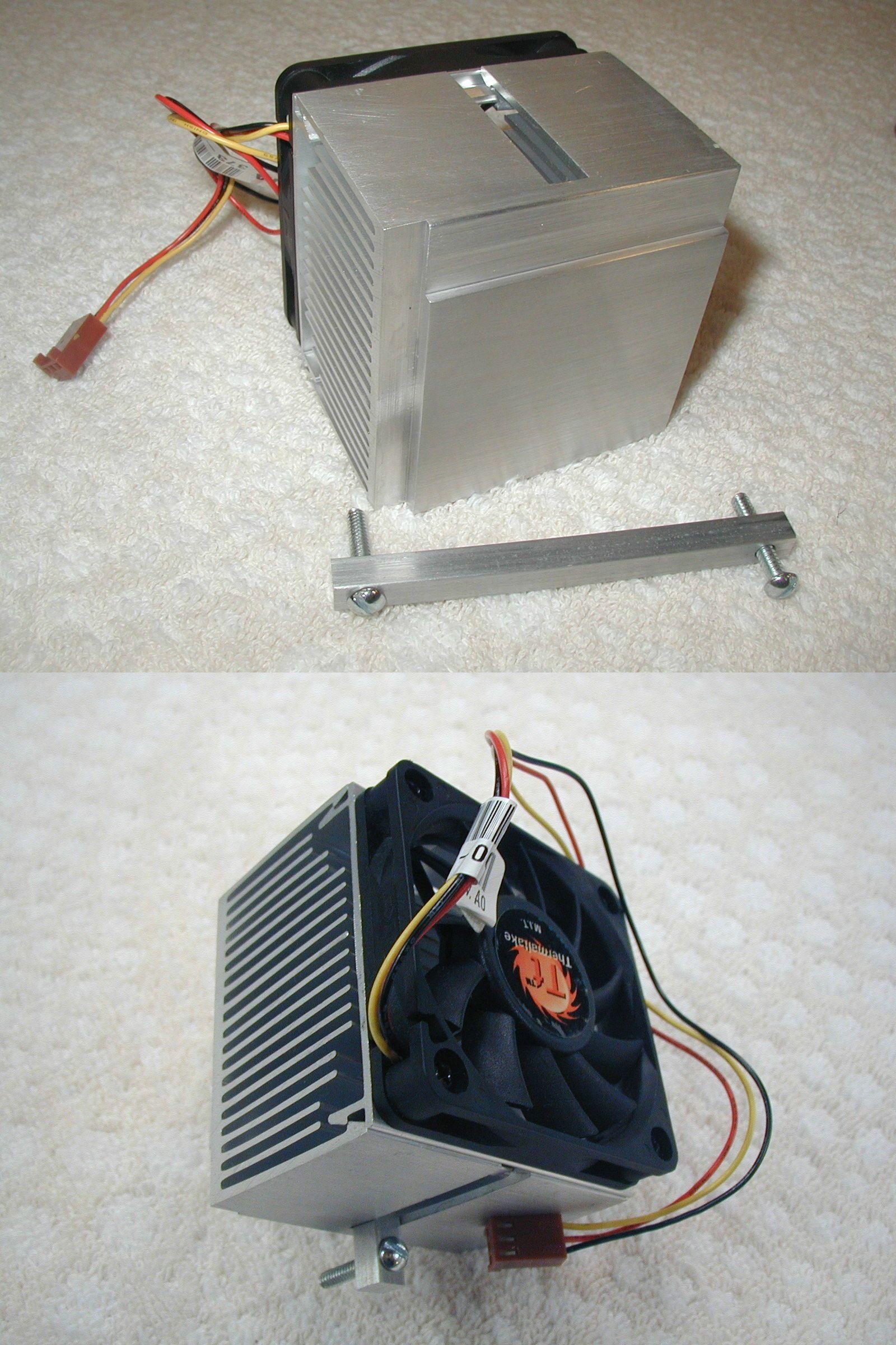 Cpu Heatsink With 12 Volt Fan Ebay Computer Fan Heatsink