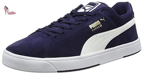 Puma Suede S S6 - Sneakers Basses - Mixte Adulte - Multicolore  (Peacoat/White