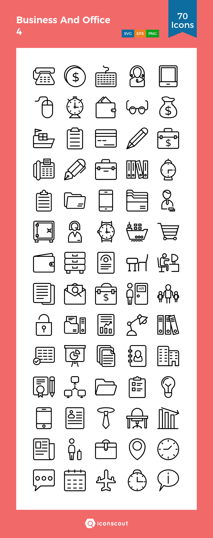 Download Business And Office 4 Icon Pack Available In Svg Png Eps Ai Icon Fonts Icon Pack Icon Icon Font