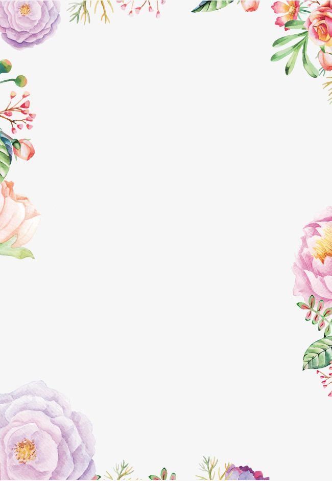 Patrón frontera, Frame, Flores, Flor Imagen PNG | MANUALIDADES ...