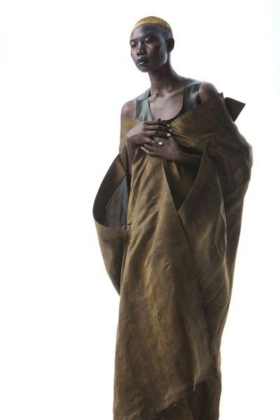 The 'Wabi Sabi' designer By: Victoria Hynes, Alistair Trung, Count, mud silk cape, 2011