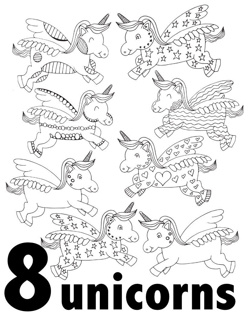 Unicorn Numbers 1 10 Free Printable Pages For Preschool Kindergarten Stevie Doodles Fall Coloring Pages Unicorn Coloring Pages Free Coloring Pages