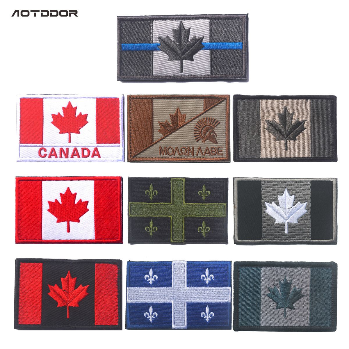 3D Embroidery Patch Cloth Canada Flag Armband Badges